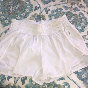 white lululemon tracker short V 4""